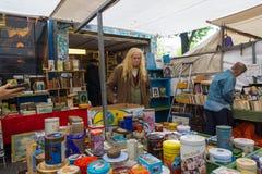 跳蚤市场Waterlooplein在阿姆斯特丹 免版税库存图片