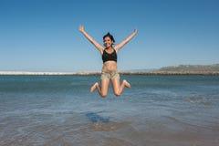 跳跃为喜悦的拉提纳 库存照片
