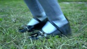 跳跃儿童脚 股票录像