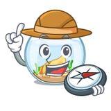 跳跃在之外的探险家fishbowl在字符 皇族释放例证