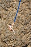 跳跃在俄勒冈的橡皮筋 库存图片