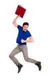 跳跃的学生。 免版税图库摄影