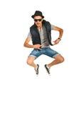 跳跃的断裂舞蹈家人 免版税库存照片