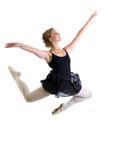 跳跃的舞蹈家女孩被隔绝 库存图片