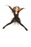 跳跃的舞蹈家女孩 库存照片