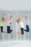 跳跃的锻炼 免版税库存图片