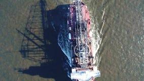 跳跃者挖泥机特拉华河费城PA鸟瞰图  股票录像
