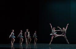 跳跃高度古典芭蕾` Austen汇集` 免版税图库摄影