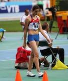 跳高运动员从俄国的玛丽亚Kuchina 免版税库存照片