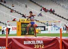 跳高运动员从塞舌尔群岛的Lissa Labiche 免版税库存图片