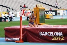 跳高运动员Iryna Gerashchenko 库存照片