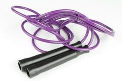 跳紫色绳索 库存图片