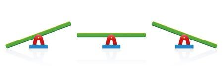 跷跷板五颜六色平衡的标度 向量例证