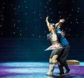 踌躇向前和后面玩偶现代舞蹈 免版税库存图片