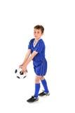 踢足球 免版税图库摄影