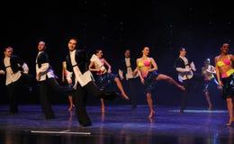 踢踏舞比基尼泳装这仑巴舞这奥地利的世界舞蹈 库存照片
