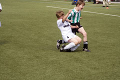 踢schwalbach足球的bsc子项 图库摄影