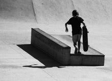 踩滑板在圣贝尔纳多-杜坎普 图库摄影