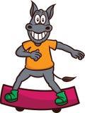 驴踩滑板的动画片 库存照片