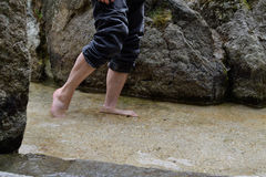踩水-特写镜头 免版税库存图片
