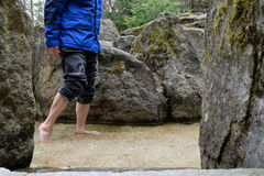 踩水的人 免版税库存照片
