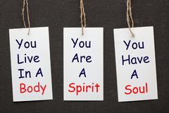 身体、灵魂和精神 免版税库存图片