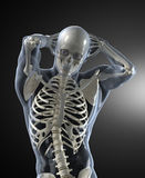 身体人力医疗扫描 免版税库存照片