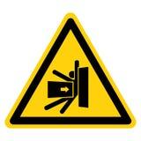 身体击碎从旁边标志标志,传染媒介例证,在白色背景标签的孤立的力量 EPS10 皇族释放例证
