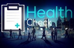 身体检查诊断健康状况分析概念 免版税库存照片