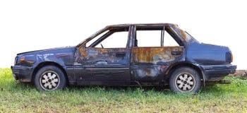 身体着火的交谊厅汽车 免版税库存图片