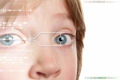 身分虹膜扫描 免版税库存照片