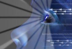 身分虹膜扫描 免版税库存图片