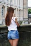 紧身短裤或赃物短裤时尚趋向 库存图片