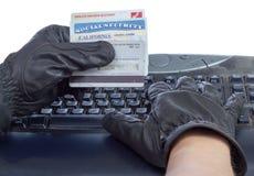 身份窃取。 免版税图库摄影