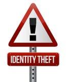 身份窃取标志 免版税库存图片
