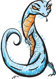 躲躲闪闪的蓝色蜥蜴 免版税库存图片