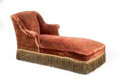 躺椅轻便马车休息室老葡萄酒古董和原物 免版税库存图片
