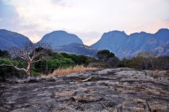 车公车公山,尼亚萨省,莫桑比克 免版税库存照片