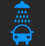 洗车在黑背景的传染媒介象 皇族释放例证