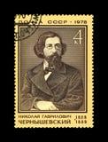 车尔尼雪夫斯基Nokolai,瑞安作家,革命家, 150th诞生周年,大约1978年, 库存图片