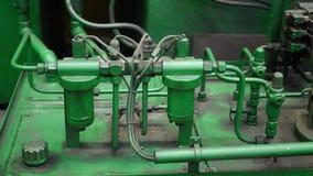 车床机器的水力管子建筑 影视素材
