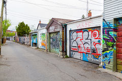 车库和街道画在多伦多 库存照片
