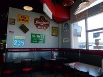 车库汉堡&啤酒,俄克拉何马市, OK 库存照片