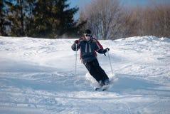 车手滑雪 库存照片