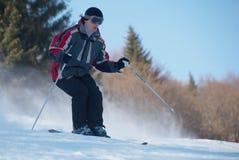 车手滑雪 免版税库存照片