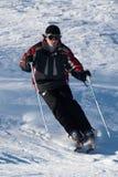 车手滑雪 免版税库存图片