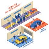 洗车服务等量构成 库存例证