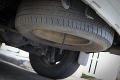 车汽车轮胎备用轮胎  库存图片