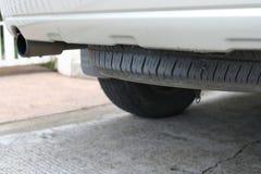 车汽车轮胎备用轮胎  免版税库存图片