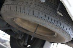 车汽车轮胎备用轮胎  库存照片